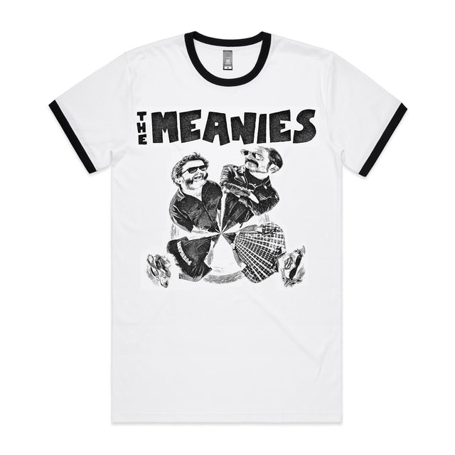 The Meanies Cruel To Be Caned T-shirt (White/Black Ringer)