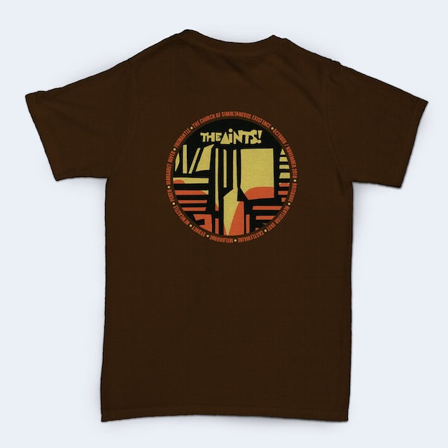 The Aints! The Church of Simultaneous Existence Tour T-shirt (Brown)