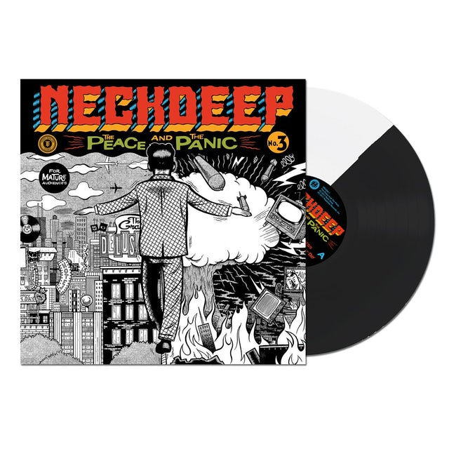 Neck Deep The Peace and The Panic LP (Half Black/Half White) (Vinyl)