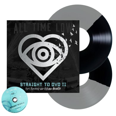 All Time Low Straight To DVD II 2LP + DVD (Black + Silver Half Half)
