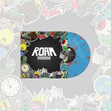 ROAM Backbone LP (Transparent Blue w/ Red Splatter Vinyl)