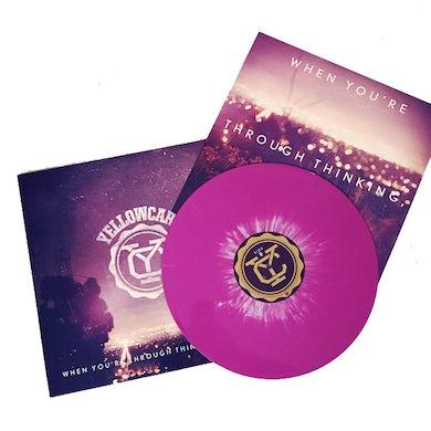 Yellowcard When You're Through Thinking, Say Yes LP (Purple w/ White Splatter) (Vinyl)