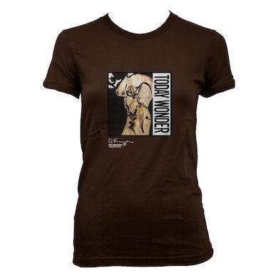 Ed Kuepper Today Wonder Womens T-shirt (Brown)
