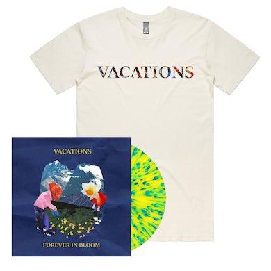 Forever In Bloom LP (Yellow w/ Blue Splatter) + Logo Tee (Natural)