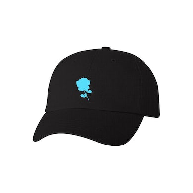 Between You And Me Blue Flower Dad Hat (black)