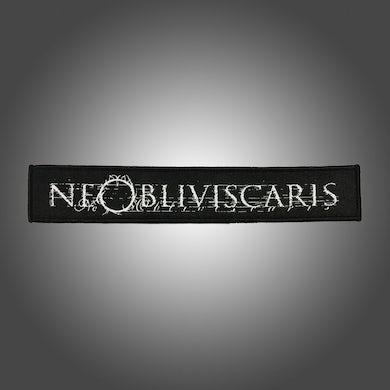 NE OBLIVISCARIS Text Logo Patch