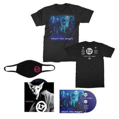 L7 Smell The Magic 30th Anniv. Reissue CD + T-Shirt Bundle