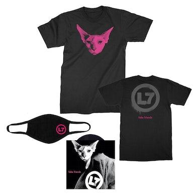 """L7 Fake Friends 7"""" + T-Shirt Bundle"""
