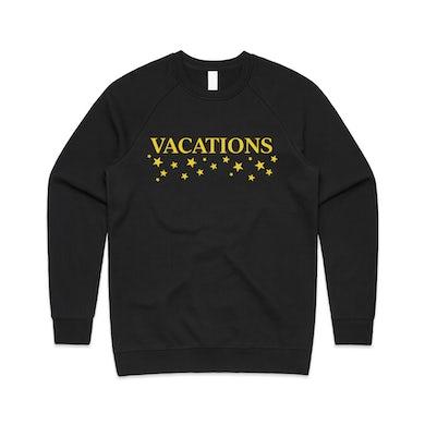 Vacations Star Logo Embroidered Crewneck (Black)