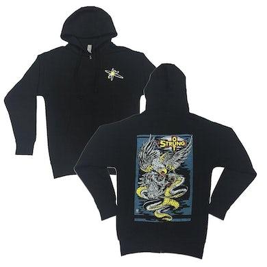 Eagle Skull Zip Hoodie (Black)