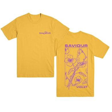 Saviour Violet T-Shirt (Yellow)