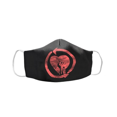 Rise Against Red HeartFist Face Mask (Black)