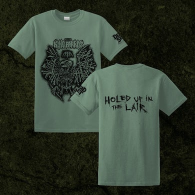 Holed Up in the Lair T-shirt (Military Green)
