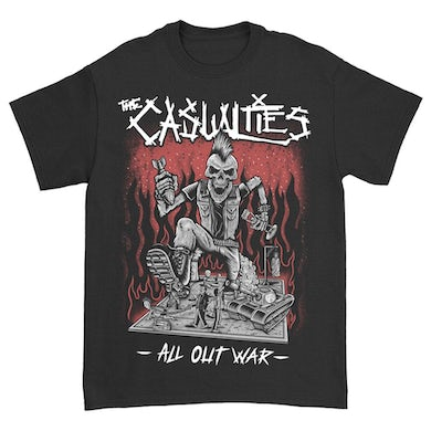 The Casualties All Out War Tee (Black)