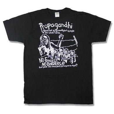 Propagandhi No Borders T-shirt (Black)