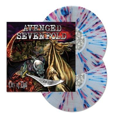 Avenged Sevenfold City Of Evil 2LP (Clear w/ Purple & Blue Splatter) (Vinyl)
