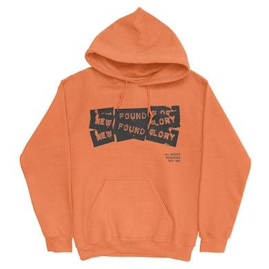 New Found Glory 3 Tape Logo Pullover (Safety Orange)