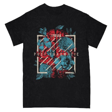 I Prevail Brain Flowers Tee (Black Mineral Wash)