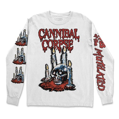 Cannibal Corpse Ritual Candles Long Sleeve (White)