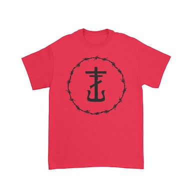 Frank Iero Barbed Wire Anchor T-Shirt (Red)