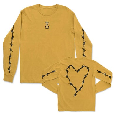 Frank Iero Barbed Wire Heart Long Sleeve (Gold)