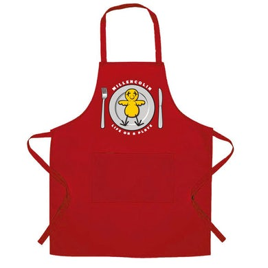 Life on a Plate Apron (Red)