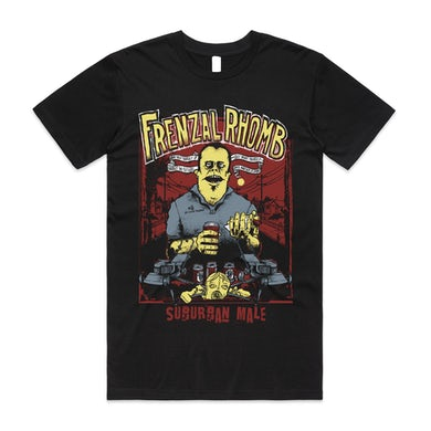 Frenzal Rhomb Suburban Male T-Shirt (Black)