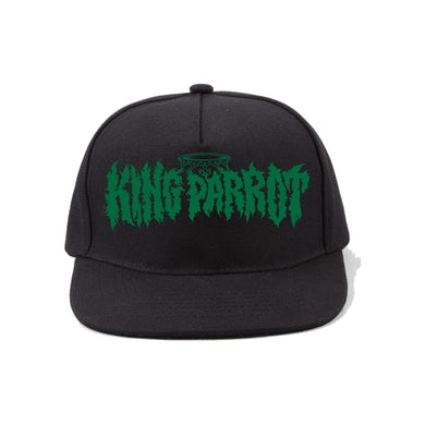 King Parrot Green Logo Snapback Hat (Black)