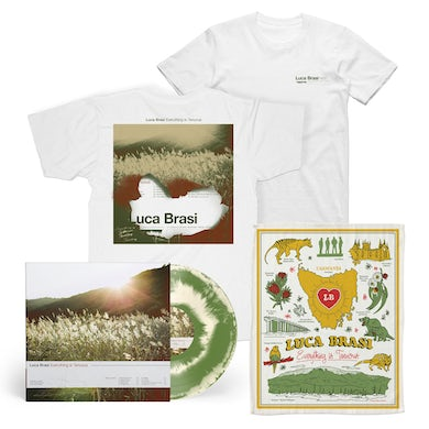 Everything Is Tenuous LP (Bone & Olive swirl vinyl) + Tea Towel + Tee