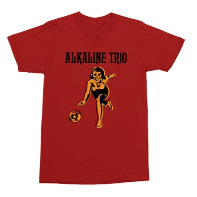 Alkaline Trio Bowler T-Shirt (Red)