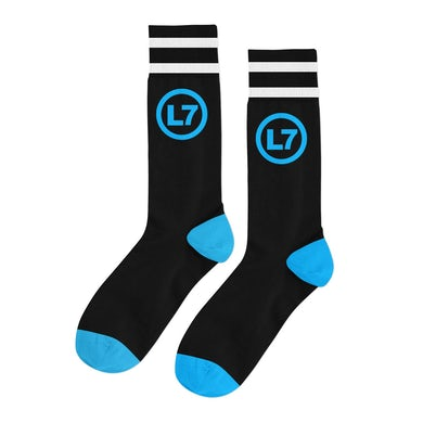 Logo Socks (Black/Blue)