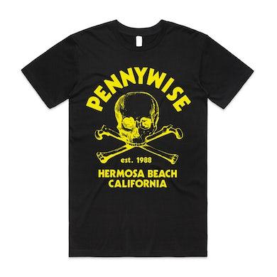 Pennywise Crossbones Tee (Black/Yellow)