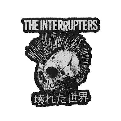The Interrupters Broken World Die Cut Patch (Black/White)