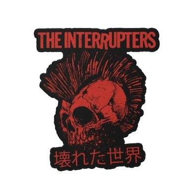 The Interrupters Broken World Die Cut Patch (Black/Red)