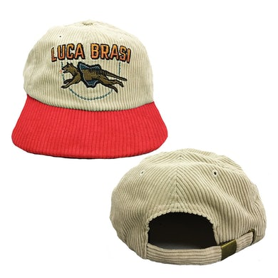 Tassie Corduroy Hat (Natural w/ Red)
