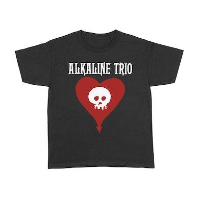 Alkaline Trio Heart Skull Youth T-Shirt (Black)