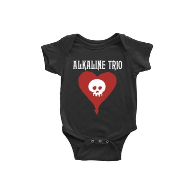 Alkaline Trio Heart Skull Onesie (Black)