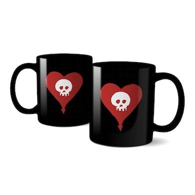 Alkaline Trio Heart Skull Coffee Mug (Black)