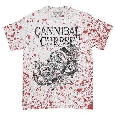Cannibal Corpse Overtorture T-Shirt (Blood Spray Dye)
