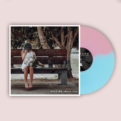 Stepson Help me, Help you Vinyl (Baby pink & Translucent electric blue)