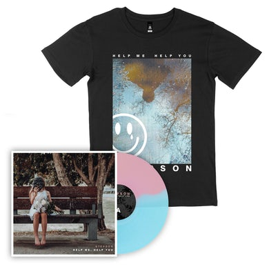 Stepson Help me, Help you Vinyl (Baby Pink/Electric Blue) + Reflection Tee