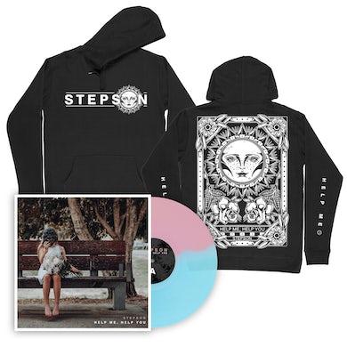 Stepson Help me, Help you Vinyl (Baby Pink/Electric Blue) + Tarot Hoodie