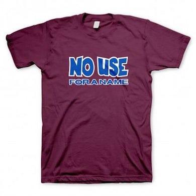 No Use For A Name Logo T-Shirt (Burgundy)