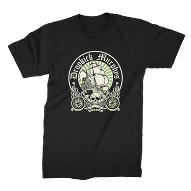 Dropkick Murphys Boston Ship Circle T-Shirt (Black)
