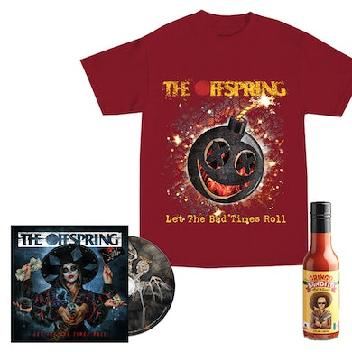 The Offspring Let The Bad Times Roll CD + Hot Sauce Tee + Hot Sauce