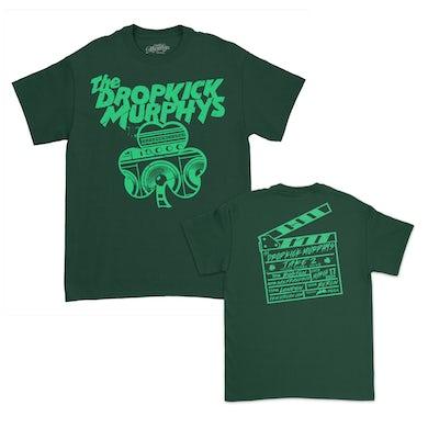 Dropkick Murphys Speaker Shamrock T-Shirt (Dark Green)