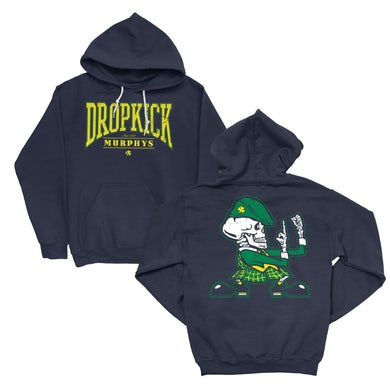 Dropkick Murphys Fist Up Pullover Hoodie (Navy)