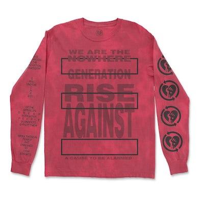 Rise Against Nowhere Generation Longsleeve (Blood Dye)