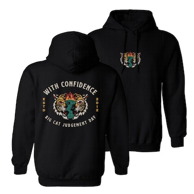 With Confidence Big Cat Judgement Day Hoodie (Black)
