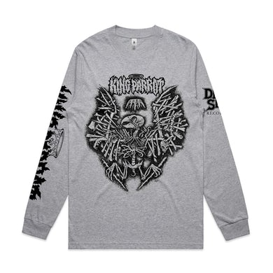 King Parrot Holed up in the Lair Longsleeve (Grey Marle)